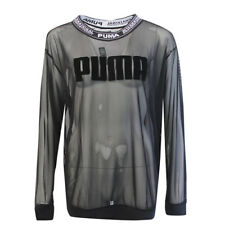 Puma 1948 Long Sleeve Mesh Crew Neck Long Length Womens Sweater 575440 01 RW94
