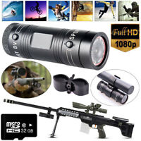 32GB Professional Gun HD 1080P Sports Action Camera For Shooting Shotgun Rifle