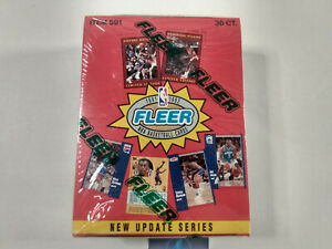 1991-92 Fleer Basketball Update Series NBA Cards Sealed Box x36 packs Jordan? UK