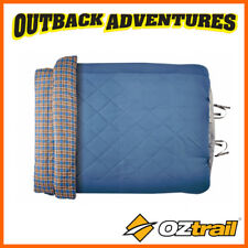 OZTRAIL OUTBACK COMFORTER QUEEN SIZE TWO PERSON DUO SLEEPING BAG 0 DEGREE