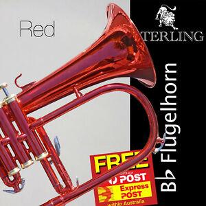 Red STERLING Bb Flugelhorn • With Case • Superb Flugel • FREE EXPRESS POST!!