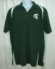 MEN'S KNIGHTS APPAREL MICHIGAN STATE SPARTANS GOLF / POLO STYLE SHIRT SIZE L