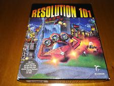 RESOLUTION 101 - PC GAME IBM 1990 EUROPEAN VERSION BOX MILLENIUM FIRST EDITION