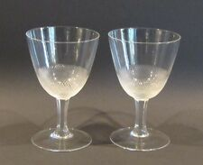 2 Gläser Kristall MOSER Stil Lloyd 1922 Steinelschliff Art Deco