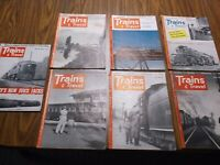 Trains and Travel magazine 1952 1953 1954