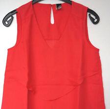 Maglie e camicie da donna rosso nessuna fantasia in poliestere