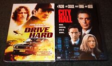 DRIVE HARD & CITY HALL-2 movies-JOHN CUSACK, AL PACINO,BRIDGET FONDA,THOMAS JANE