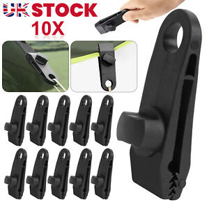 10PCS Tarp Clips Lock Grip Awning Clamp Set Instant Clip for Camping Canopies
