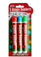 Pack of 3 Novelty Bingo Dabbers Marker Pens - Non Drip Ink NEW-D32