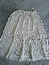 WHITE CROCHET SKIRT Macrami size 10/12