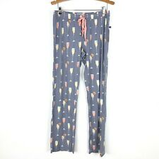 NEW PJ Salvage Womens Medium Grey Stretch Waist Pajama Pants Cocktails Champagne