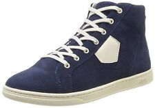 Aigle Yarden Men's Classic Retro Navy Suede Hi-Top Sneakers boot UK 7.5 EU 41