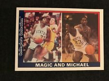 Rare Oddball Michael Jordan Magic Johnson 1991 Collegiate Collection Promo Card