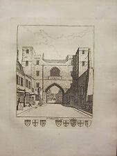1793 ANTIQUE LONDON PRINT ~ ST JOHNS GATE
