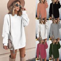 Sweatshirt Long Casual Blouse Sleeve Tunic Fall Women's Tops Pullover