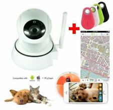 Telecamera IP visione animali - audio - ruotabile - APP e PC + GPS anti smarr...