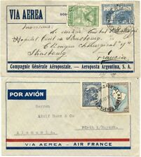 Argentina 1930 CGA & 1936 Air France Env. to France or Germany