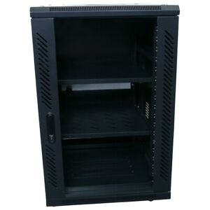 "18RU 800mm Deep Free Standing Server Rack Data Network Cabinet 18U 19"" 19 Inch"