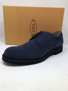 $600 New Tods Mens Blue Shoes Wingtips Size 11 US 10 UK 44 EU