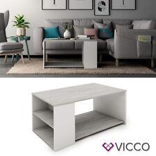 VICCO Couchtisch DARIO in Weiß Beton Optik - Wohnzimmer Sofatisch Kaffeetisch