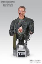RARE Buste T-800 battle Dammaged Terminator 2 Arnold Schwartzeneger Sideshow
