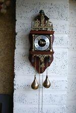 More details for vintage zaandam zaanse dutch twin weight wall clock