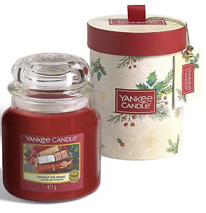 Yankee Candle 411g Unwrap the Magic Jar Candle In Gift Box Perfect Xmas Gift