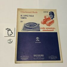 1970 Cincinnati Reds MACHINE Detroit Tigers Spring Training Unscored Program GD+