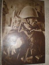 Printed Photo Greece Army Infantryman on Albania front 1941 ref AQ