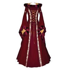 Women's Vintage Victorian Renaissance Gothic Dress Costume Hooded Medieval Dress