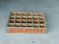 Vintage Pepsi-Cola Wood Case Crate 24 bottle