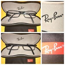 Ray-Ban Authentic Eyeglasses Readers/RX W/Case RB6083 2509 5016135 BLACK Italian