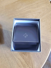 PATEK PHILIPPE BROWN LEATHER SINGLE WATCH TRAVEL CASE