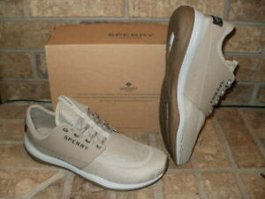 NEW SPERRY H20 SKIFF WATER RESISTANT BOAT SHOE / MESH/SYNTHETIC TAUPE MSRP $80