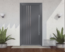 Exclusive doors EXD 005 - in Grey RAL 7016, complete door Schüco with frame