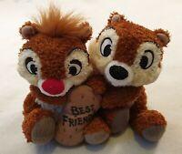 "Disney Chip n Dale Best Friends Soft Toy Plush Disneyland Resort Paris 7"""