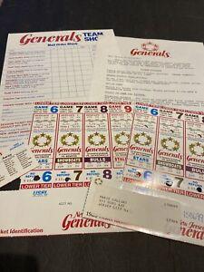 1985 USFL FOOTBALL NJ GENERALS SEASON TICKET KIT W/8 TICKETS~H. WALKER~D FLUTIE+