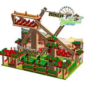 """Kirmes Karussell """"Dschunke"""". Bauplan für LEGO/ andere Klemmbausteine."""