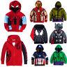Kids Boys Superhero Long Sleeve Tops Hoodie Hooded Sweatshirt Winter Jacket Coat