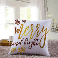 Christmas Cushion Cover Xmas Ambience Square Pillow Case Sofa Home Gifts