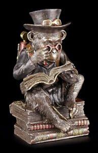 Steampunk Schimpansen Figur - Der Gelehrte - Veronese Affen Gorilla Statue Deko