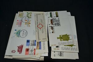 Rail related covers etc x 36 + a platform ticket. Very interesting range.