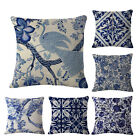 Blue And White Throw Pillow Cases Home Decorative Cushion Cover Square