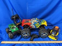 LOT 3 VTG RC Toy Monster Truck 1996 Fantasy 3-Wheel Car Trike Rare Dirt Demon