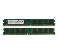 Kingston 4GB 2X 2GB 2G Desktop PC DIMM Memory RAM PC2-5300 DDR2 667Mhz 240Pin &N