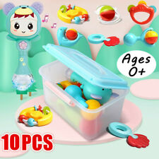 10 Pcs Baby Rattles Set Grab Teether Shake Bell Newborn Infant Educational Toys