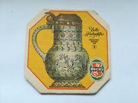 Alter Bierdeckel BECK's Bier, Bremen - RS: Deckelkrug Böhmen 1685 /K3