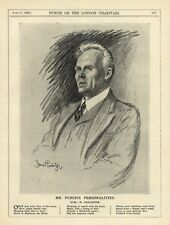 VINTAGE 1926 PUNCH PRINT: FEODOR CHALIAPINE - FAMOUS RUSSIAN OPERA SINGER