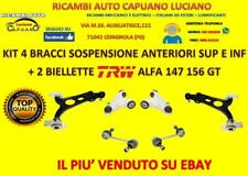 KIT 4 BRACCI SOSPENSIONE ANTERIORI SUP E INF + 2 BIELLETTE TRW ALFA 147 156 GT