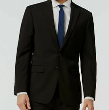 $642 Calvin Klein Men Extreme Slim X Fit Wool Sport Coat Black Jacket Blazer 44S